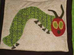 The Very Hungry Caterpillar/Eric Carle Story Sack, Very Hungry Caterpillar, Eric Carle, Quilt Patterns, Baby Gifts, Quilts, Children, Creative, Projects