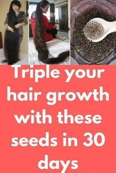 Triple your hair growth with these seeds in 30 days Today I will show one miracle hair growth remedy which chia seeds. Chia seeds contains of protein that helps our hair to grow faster. Copper and Zinc are important minerals which are found in chia s Hair Remedies For Growth, Hair Growth Treatment, Hair Growth Tips, Hair Growth Mask, Fast Hair Growth, Extreme Hair Growth, Serum, Hair Regrowth, Hair Health
