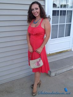 Beautiful coral dress from Oasap