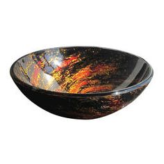 "Bathroom Sinks At Menards magick woods 23-1/2"" red and gold leaf vessel sink at menards"