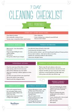 Free printable cleaning checklist. Click for #SpringCleaning tips and ideas for quick cleaning.
