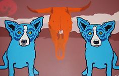 Moo Cow Blues 1990 by Blue Dog George Rodrigue