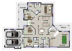 175 m2 | Narrow Lot 4 Bedroom house plans | Narrow | Home Plans ...