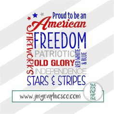 Proud American svg, eps, dxf, png, cricut, cameo, scan N cut, cut file, 4th of july svg, fourth of july svg, patriotic svg, merica svg by JMGraphicsCO on Etsy