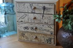 pretty little decoupaged wooden box