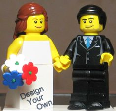 Design Your Own!!! CUSTOM LEGO Minifig Wedding Cake Topper Bride and Groom
