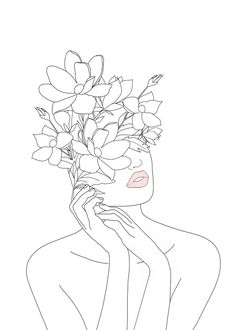 hippie tattoo 851884085753902723 - Minimal Line Art Woman with Magnolia Mini Art Print by Nadja – Without Stand – x Minimal Line Art Woman with Magnolia Mini Art Print by Nadja – Without Stand – 3 x 4 Source by Doodle Art, Doodle Drawings, Art Drawings Sketches, Easy Drawings, Simple Doodles Drawings, Easy Flower Drawings, Minimal Drawings, Simple Line Drawings, Art Illustrations