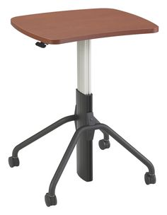 NewHeights™ Gas Spring Lift Adjustable Height Desk w/ Rolling Casters (RA-24XXNHGW-C) **Made in the USA**
