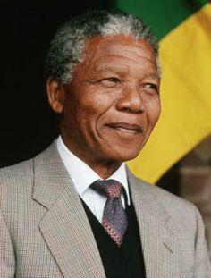 Nelson Mandela: Anti-apartheid activist and former president of South Africa.