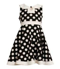 Bonnie Jean 2T-6X Keyhole-Neck Dotted Dress | Dillards.com