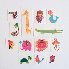 Love these little animal characters with a retro feel.