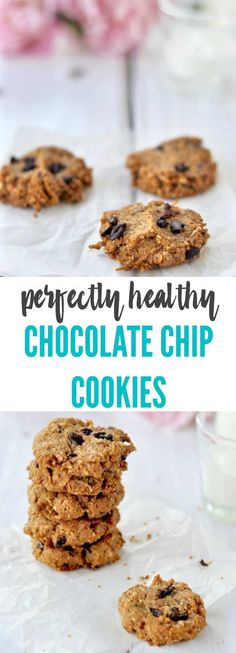 These perfectly healthy CHOCOLATE CHIP COOKIES are impossible to resist so luckily one batch makes 40! Crispy, crunchy and nutty they are a one bowl wonder {grain free & gluten free} | Plus Ate Six