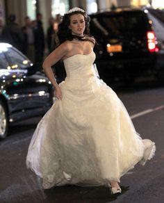 "Blair Waldorf's Vera Wang wedding dress on ""Gossip Girl."" Stunning."