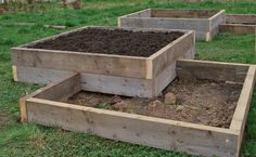 raised garden bed plans Well the plan was to make one smallish raised bed at home and one at Vegetable Planters, Raised Vegetable Gardens, Vegetable Garden Design, Raised Garden Bed Plans, Building Raised Garden Beds, Raised Beds, Strawberry Garden, Square Foot Gardening, Garden Boxes