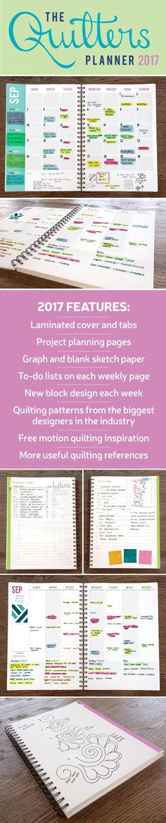 Do you struggle with completing quilting projects? There is a tool that can help you organize all of your sewing. You will no longer litter surfaces with scraps of paper filled with quilting project ideas.  Instead, your quilting plans AND daily plans can all be in one place - The Quilter's Planner. If you're ready to start crushing your goals, the Quilter's Planner will inspire you set your sewing goals, break them down into manageable steps, then empower you to crush them like a boss.