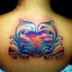 cool Top 100 dolphin tattoos - http://4develop.com.ua/top-100-dolphin-tattoos/ Check more at http://4develop.com.ua/top-100-dolphin-tattoos/