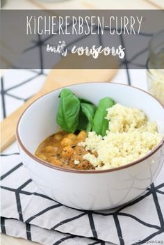 Kichererbsen Curry Couscous Rezept vegetarisch