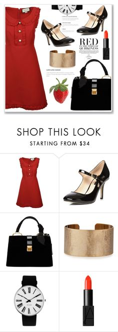 """Retro Look"" by ucetmal-1 ❤ liked on Polyvore featuring Gucci, Dorothy Perkins, Miu Miu, Panacea, Rosendahl and NARS Cosmetics"