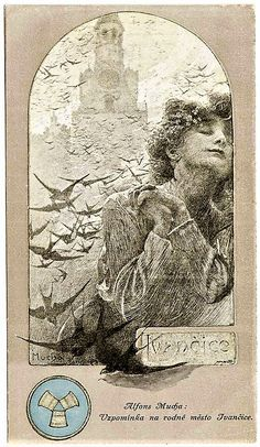 Remembering hometown Ivančice, 1909, Alphonse Mucha