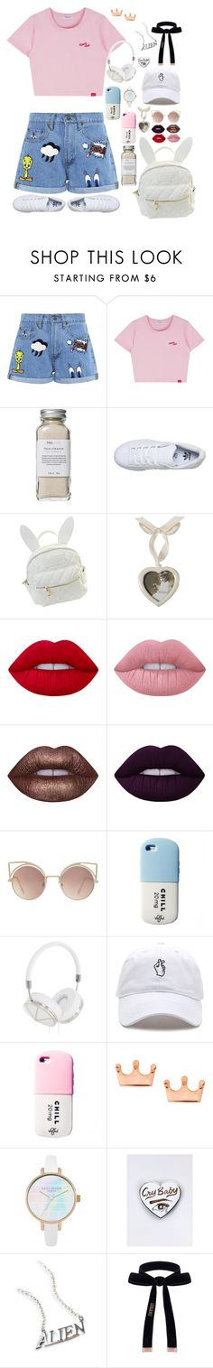 """""""pink"""" by w3irdn3ss-skittl3s ❤ liked on Polyvore featuring Paul & Joe Sister, Très Pure, adidas, cutekawaii, Lime Crime, MANGO, Valfré, Frends, Mminimal and Disturbia"""