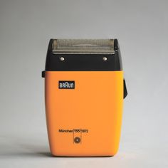 Braun Sixtant in yellow, with Otl Aicher's logo for the 1972 Olympic games. Are you watching Father Christmas?