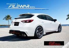 ชุดแต่งสเกิร์ต-สปอยเลอร์ Mazda3 2015-2016, ลื้นยาง samurai, ของแต่งอื่นๆ Mazda 3 Hatchback, Jdm, Luxury Cars, Cool Cars, Trucks, Zoom Zoom, Wheels, Ideas, Life