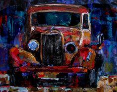 Old Truck Art Painting Colorful paintings by Debra Hurd, painting by artist Debra Hurd