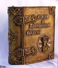 """Купить Книга-бар """"Сказка о потерянном времени"""" - комбинированный, бронза, серебра, перламутр, песочные часы"""