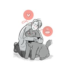 ♡ THEY'RE MCFUCKING ENGAGED HOLY FUCK ♡ | wereville:   Makkachin!  You doofy dog you.
