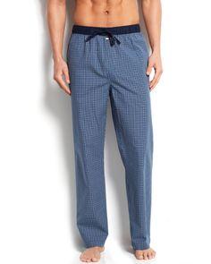 73b543cec3 Tommy Hilfiger Men s Blueberry Check Woven Pajama Bottoms