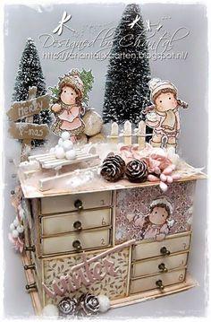 Calendrier de l'Avent. Sans tuto. Lien pour imprimer le calendrier: http://www.printablecalendar.ca/