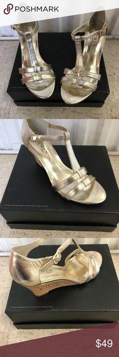 🔴NEW🔴 Lauren Ralph Lauren Harleen Wedge Sandals 🔴NEW🔴 Lauren Ralph Lauren Harleen Wedge Sandals Platino 7M Polo by Ralph Lauren Shoes Sandals