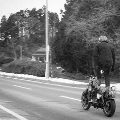 My album…  以前 載せてなかった写真  けっこう 残ってるんで  バイク乗れない この時のネタに ちょうどいい。  この日は 雪だったなぁ…。 #sportster #harleydavidson #chopper #olympuspen