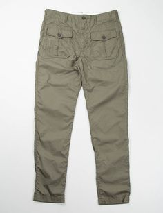 8bb502a3249 Engineered Garments Olive French Twill Huntsman Pant