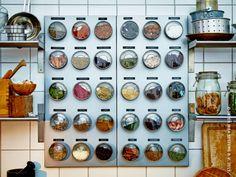 Kruidenkast idee (kruidenpotjes van ikea, plaat zelf nog te vinden)