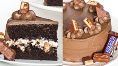 Learn how to make this mouth watering Snickers inspired cake.