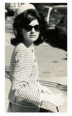 Jacqueline Kennedy Onassis. She had the most perfect face for sunglasses.