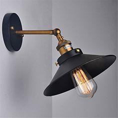 STILE VINTAGE Industriale Retro Edison E27 Parete Luminosa Lampade Regolabile Sconce Parete con Braccio Dell'oscillazione