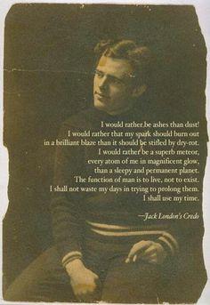Jack London's Credo