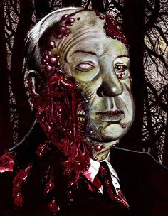This is definitely my type of weird, freaky, gory art..that I love so much ;)