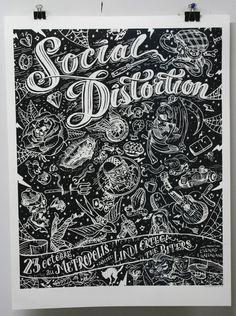 Social Distortion poster typography/illustration