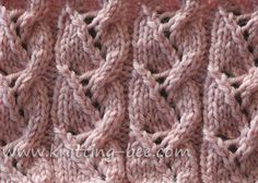 Free Lacy Plait Knitting Stitch