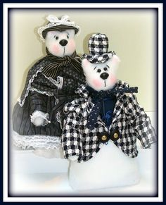 """Linda Walsh Originals Dolls and Crafts Blog: The Dolls Product Lines Series - """"Bearly Victorian, Deb! and Bearly Victorian, Ryan!"""" Victorian Animal Bear Art Dolls Products"""