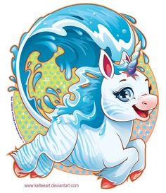 Water Unicorn by *KelleeArt on deviantART