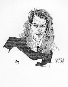 "andremoyaart: "" New from the studio, Ink on paper ""Chris"". Doodles, Ink, Studio, Drawings, Studios, Sketches, India Ink, Drawing, Portrait"
