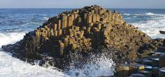 hexagons in nature- Giant's Causeway in Ireland