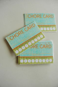 After the regular chores are done there is an option to do an extra one to fill up your punch card to get a reward.