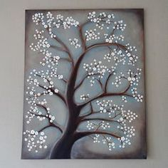 Inspired by Pier One, this tutorial shows you how to transform a blank canvas to a work of art with acrylic paints.