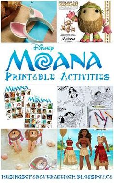 The Ultimate Pinterest Party, Week 141 | Free printable Moana activities and party games