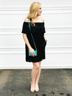 What She Wore: Off The Shoulder Ruffle Dress